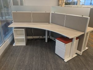 Height Adjustable Desk & Safety Screens
